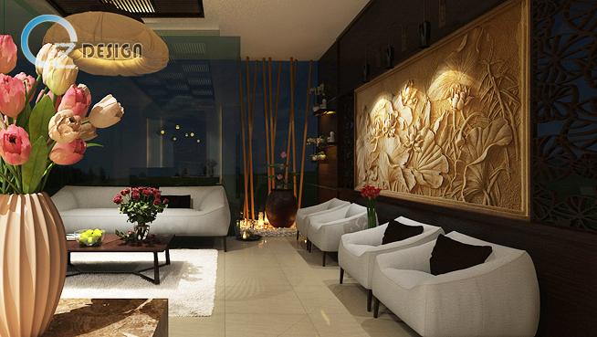 phong khach va reception 03 copy1 - Lựa chọn ghế sofa trong thiết kế nội thất spa