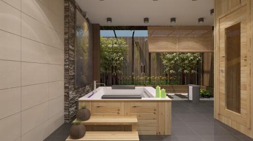 1 - Thiết kế spa tại nhà sang trọng, hiện đại