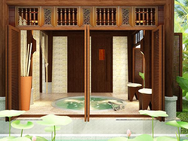 3 - Thiết kế spa Bình An Spa tại Bình Dương phong cách Nhật