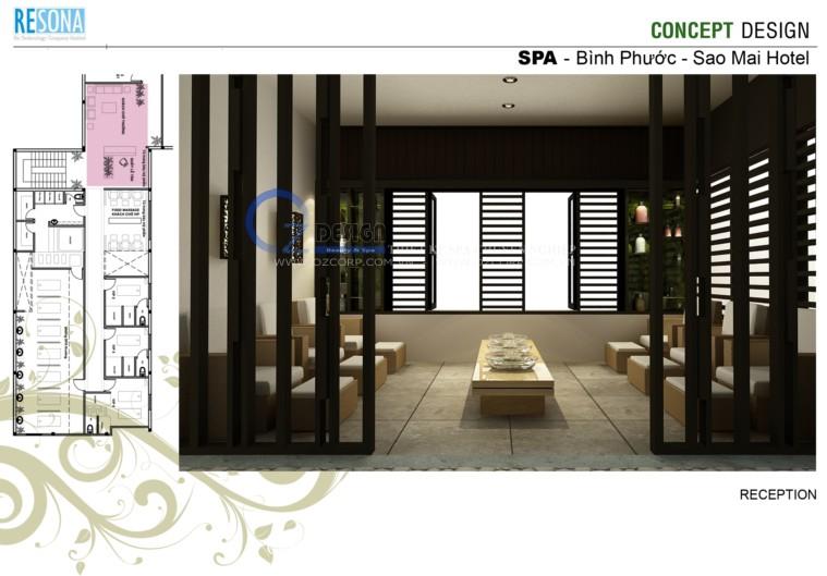 5 - Thiết kế spa - Massage Sao Mai tại Bình Phước