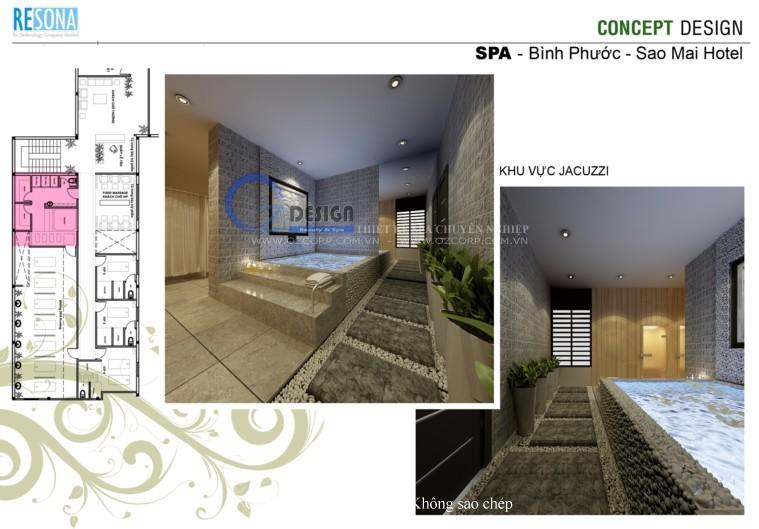 8 - Thiết kế spa - Massage Sao Mai tại Bình Phước