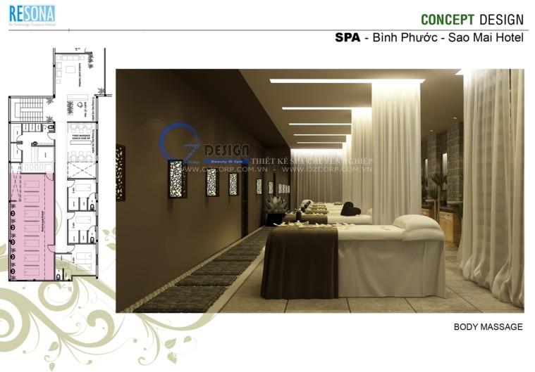 9 - Thiết kế spa - Massage Sao Mai tại Bình Phước