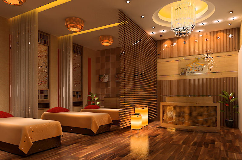 thiet ke noi that spa an tuong2 1 - Thiết kế Time Spa ở Bình Chánh với gam màu ấm cúng