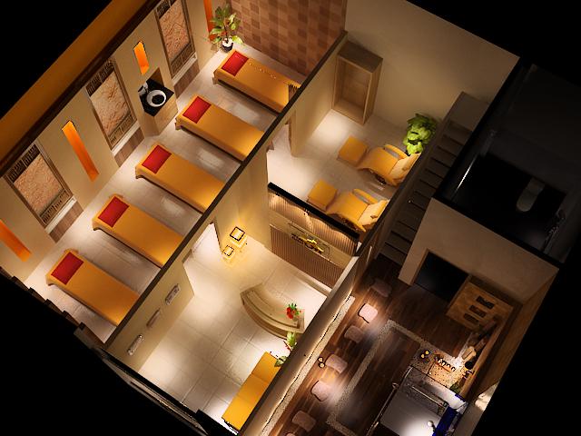 thiet ke noi that spa an tuong9 1 - Thiết kế Time Spa ở Bình Chánh với gam màu ấm cúng